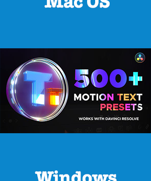 VideoHive - Text Presets for DaVinci Resolve